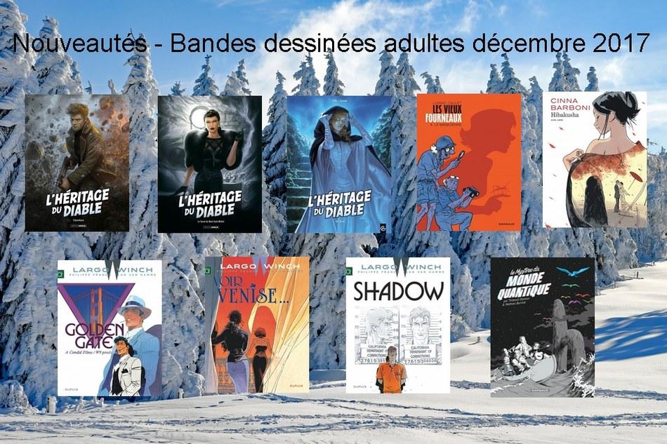 Nouveautés - Bandes dessinées adultes décembre 2017