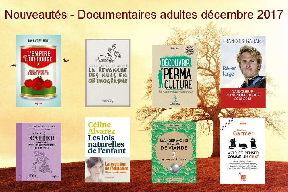 Nouveautés - Documentaires adultes décembre 2017