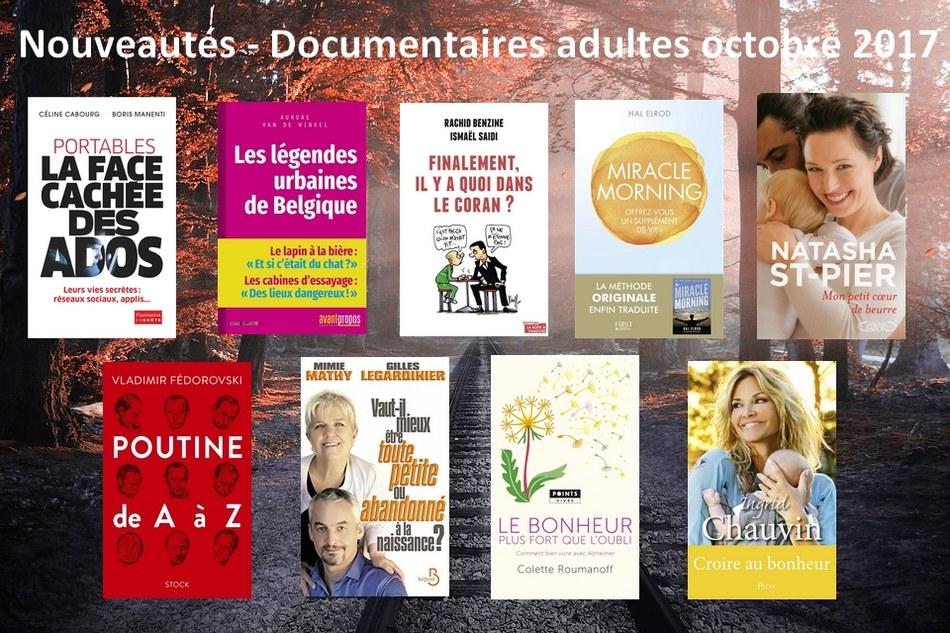 Nouveautés-Documentaires adultes octobre 2017