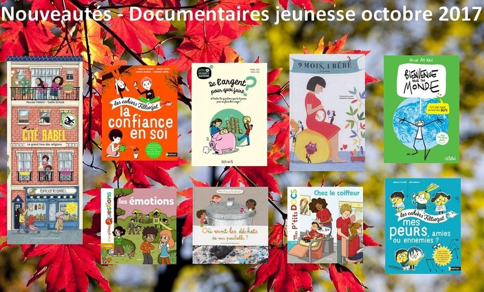 Nouveautés-Documentaires jeunesse octobre 2017