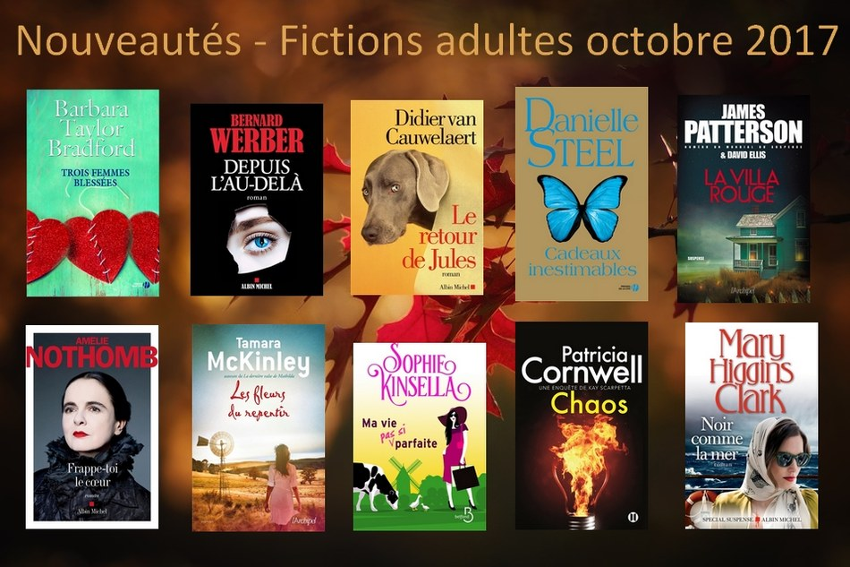 Nouveautés - Fictions adultes octobre 2017