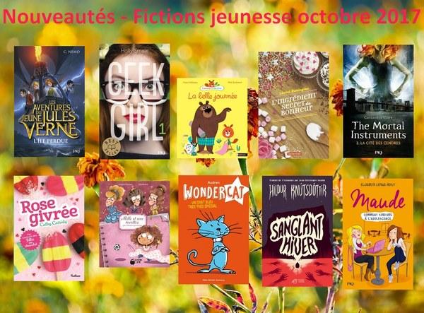 Nouveautés-Fictions jeunesse octobre 2017