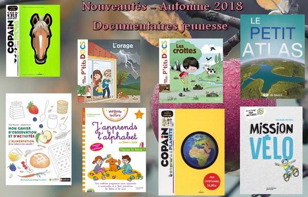 Nouveautés - Documentaires jeunesse automne 2018