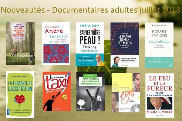 Nouveautés   Documentaires adultes juillet 2018