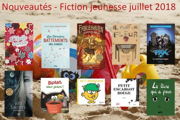 Nouveautés   Fiction jeunesse juillet 2018