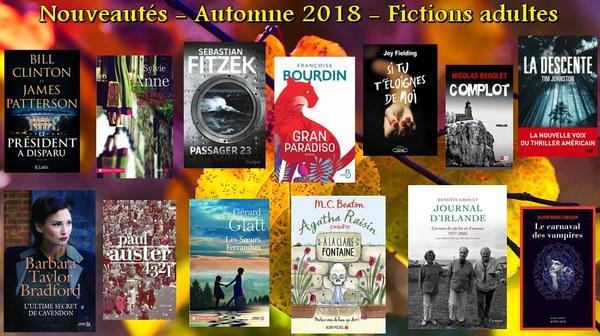 Nouveautés - Fictions adultes automne 2018