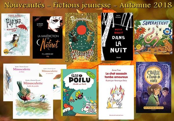 Nouveautés - Fictions jeunesse automne 2018