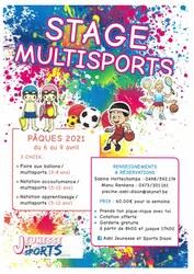 Stage natation / multisports - Pâques 2021