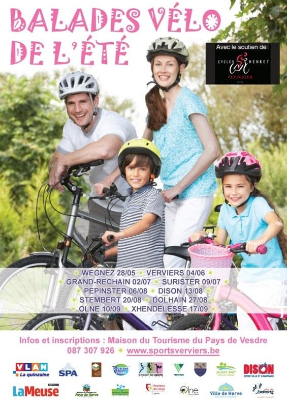 Balades vélo de l'été