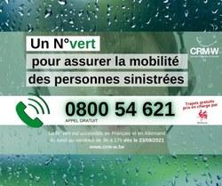 Inondations - La Centrale Régionale de Mobilité - Wallonie se mobilise pour les sinistré·e·s