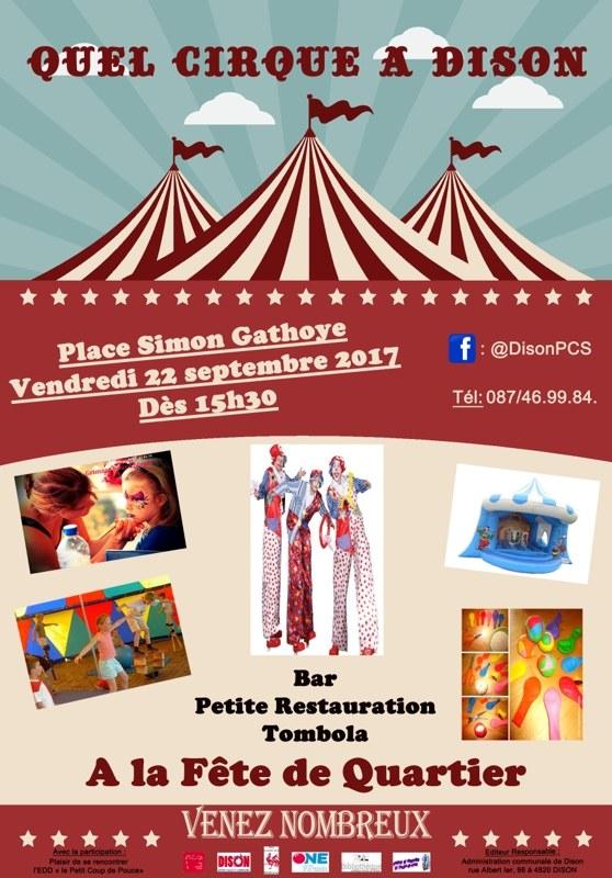 PCS   Affiche cirque FDL