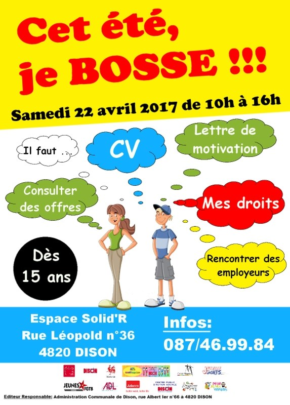 PCS   Affiche salon job etudiant